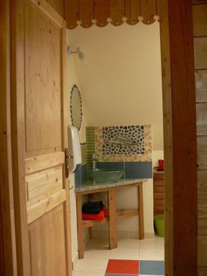 le chalet d'Athaline, salle d'eau Nomia