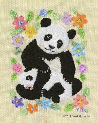 「パンダの親子」