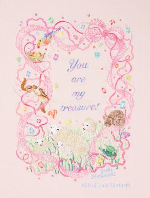 「あなたはわたしの宝物」(A4サイズ)