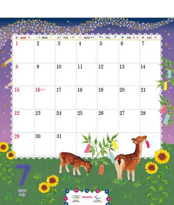 TOYOTAカレンダー2018 7月