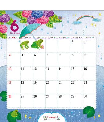 TOYOTAカレンダー2018 6月