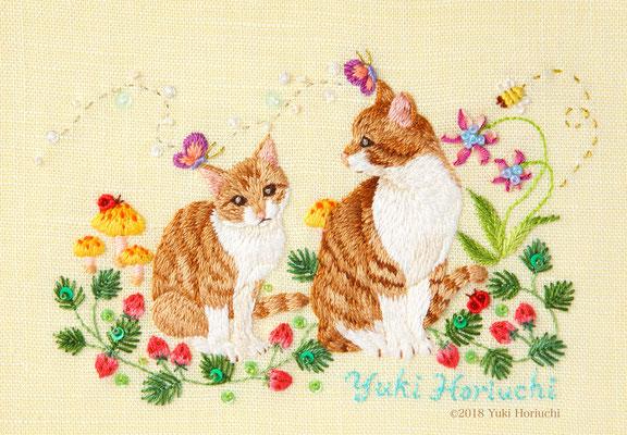 「二匹の猫」(A6サイズ)