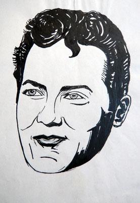 Tony Curtis- Tuschezeichnung