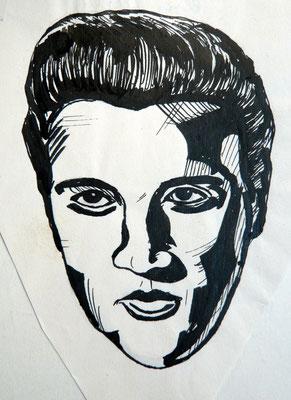 Elvis Presley- Tuschezeichnung