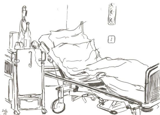Als ich mal im Krankenhaus war - Mit Filzschreiber gezeichnet