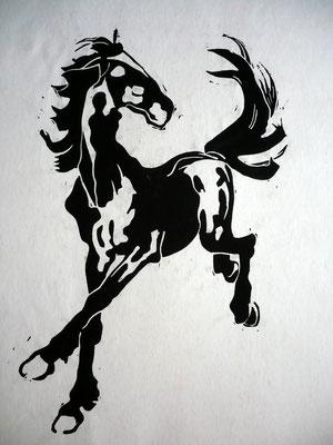 """""""Springendes Pferd"""" von einer Postkarte"""