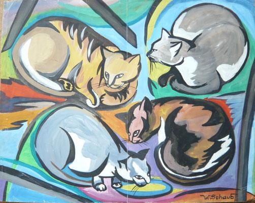 Im Stil von Franz Marc gemalt