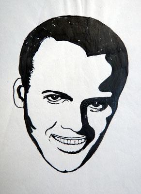 Harry Belefonte - Tuschezeichnung
