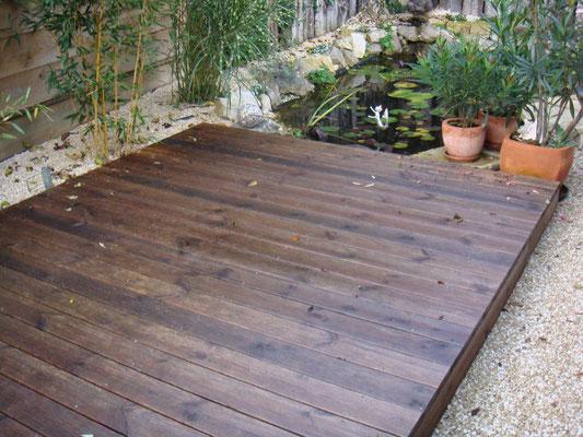 Terrassen-Deck, Douglasie, dunkel, geölt