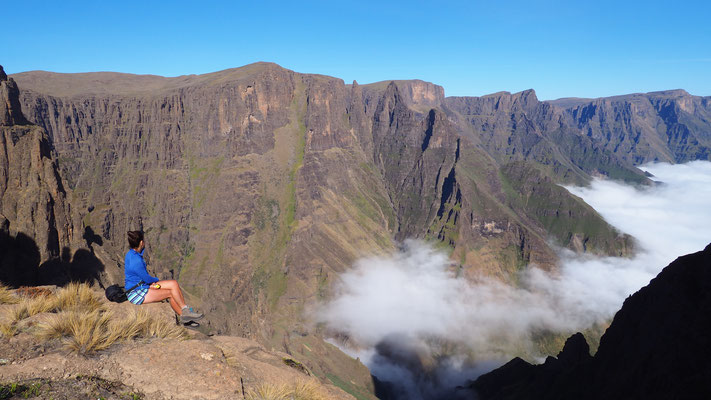 Mnweni Hiking Trail ; Drakensberg ; Afrique du Sud. Culture Maxime Lelièvre