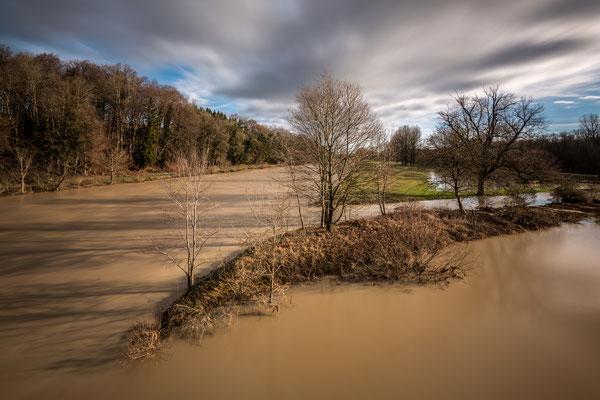 Überschwemmung bei Frauenfeld