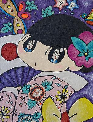 2008, 41.0 x 32.0 cm, 旦那様が好き (I love my husband), Acrylic on canvas