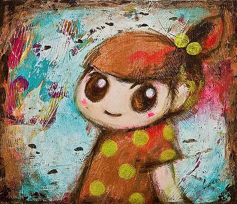 2010, 53.0 x 45.5 cm, 無題 (Untitled), Acrylic on canvas