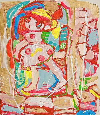 2009, 63.0 x 53.4 cm, スパーロコ (SuperLOCO), Acrylic on canvas