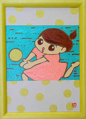 2007, 28.2 x 20.5 cm, 運動 (Exercise), Acrylic on canvas