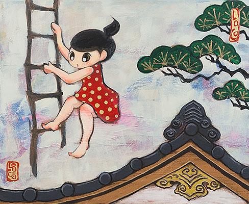 2012, 65.0 x 80.0 cm, 途中下車 (Getting off), Acrylic on canvas