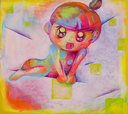 2009, 89.6 x 100.0 cm, 無題 (Untitled), Acrylic on canvas