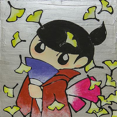 2010, 40.0 x 40.0 cm, 秋 (Autumn), Acrylic on canvas