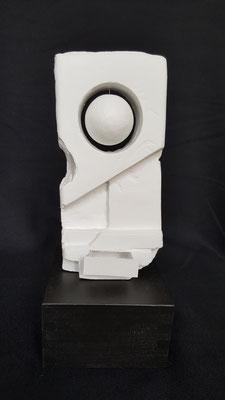 Verkrustung, 25 x 10 x 10 cm, Plastillin