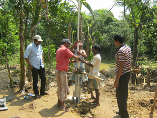 Installation of the pump