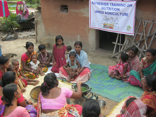 Refresher training on nutrition linked agriculture