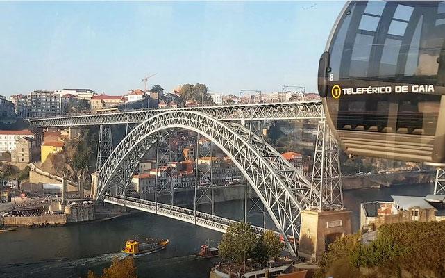 Seilbahn in Vila Nova de Gaia, Porto