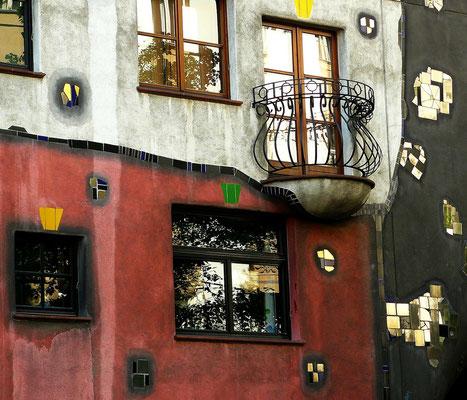 Hundertwasserhaus in Wien von außen