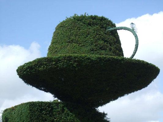 """Hecke im """"Alice im Wunderland""""-Stil, Antony House, Cornwall"""
