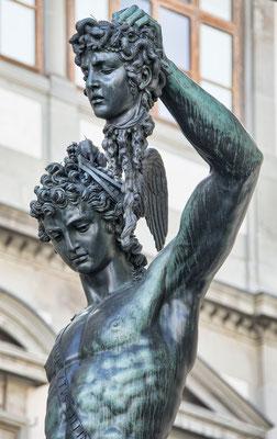 Skulptur in Florenz Perseus mit der Medusa