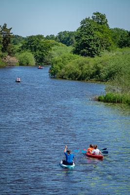Die Hamme wird gerne von Wassersportlern genutzt
