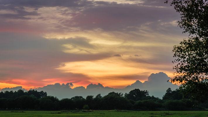Immer wieder spektakulär: der weite Himmel über Worpswede