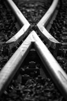 Schienen am Worpsweder Bahnhof.