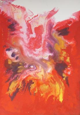 abstract acrylic painting   fluid acrylic painting