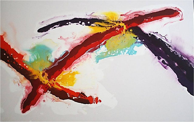 abstract acrylic painting | fluid acrylic painting