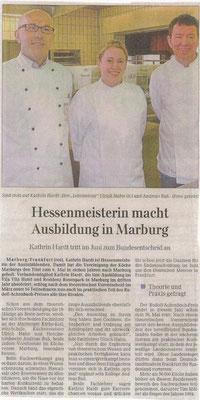 Wieder hat eine Auszubildende einen Titel errungen - in 8 Jahren 7 Hessenmeister!!!