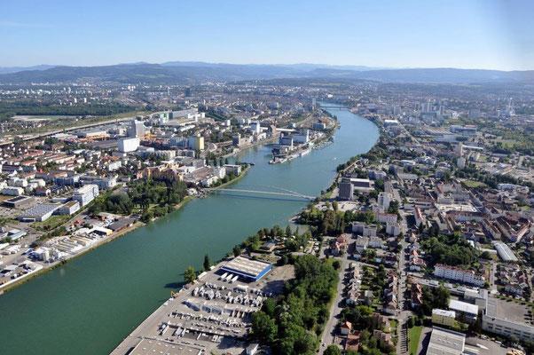 Basel Stadt Rundflug Helikopter