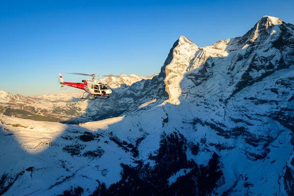 Helikopterrundflug Richtung Eiger