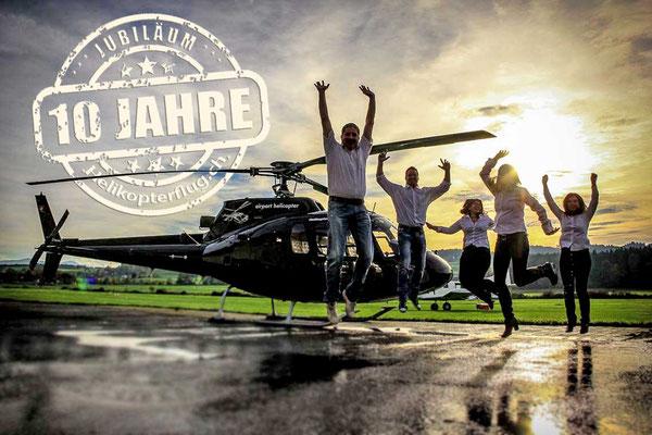 Jubiläum Helikopterflug