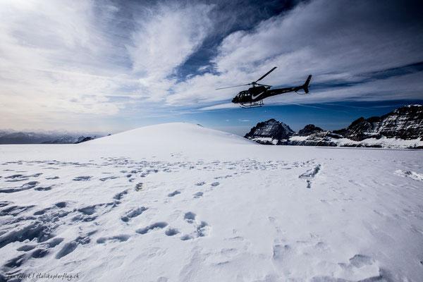 Gletscherlandung Helikopterflug
