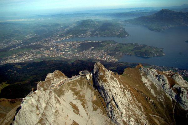 Pilatus Sicht aus Hubschrauber