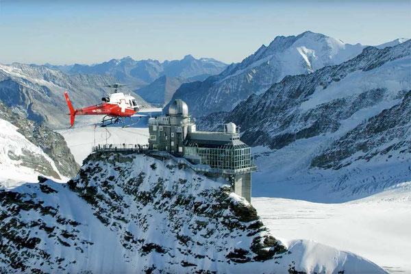 Helikopterflug Jungfraujoch