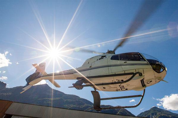 Helikopterstart Tessin