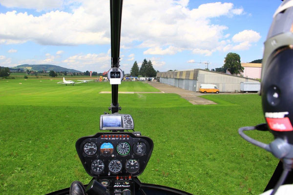 Helikopter selber fliegen ab Basel