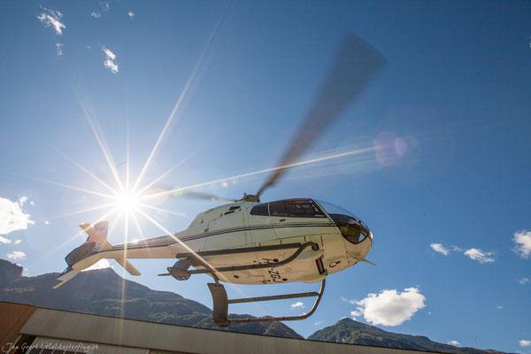 Rundflug Hubschrauber Tessin Lodrino