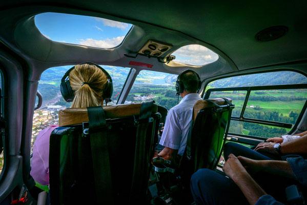 Cockpit Helikopter Rundflug ab St. Gallen Altenrhein