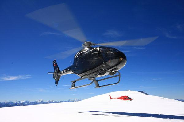 Helikopterlandung Alpenrundflug ab Gstaad
