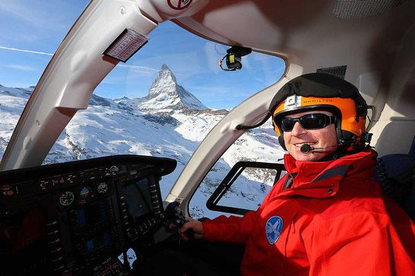 Cockpit Matterhornrundflug