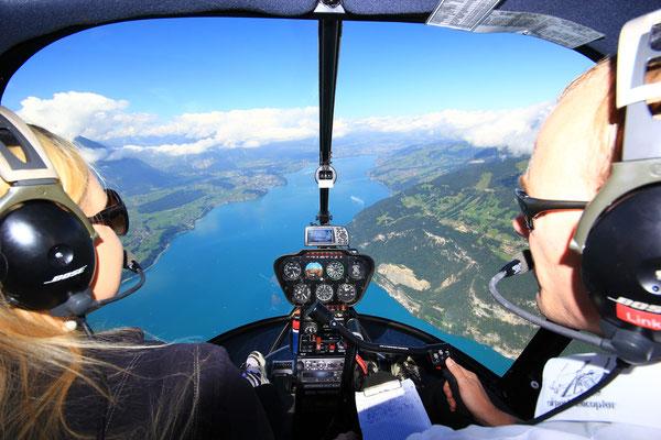 Cockpit Helikopterflug