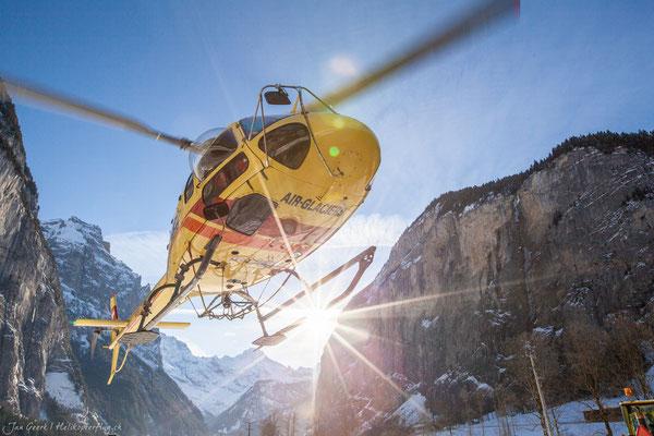 Helikopterstart Alpenrundflug