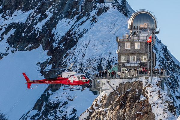 Jungfraujoch Express mit dem Helikopter